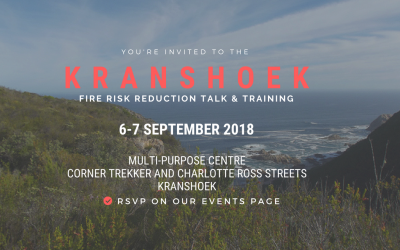 Calling all Kranshoek homeowners! Free fire risk reduction training for your home.