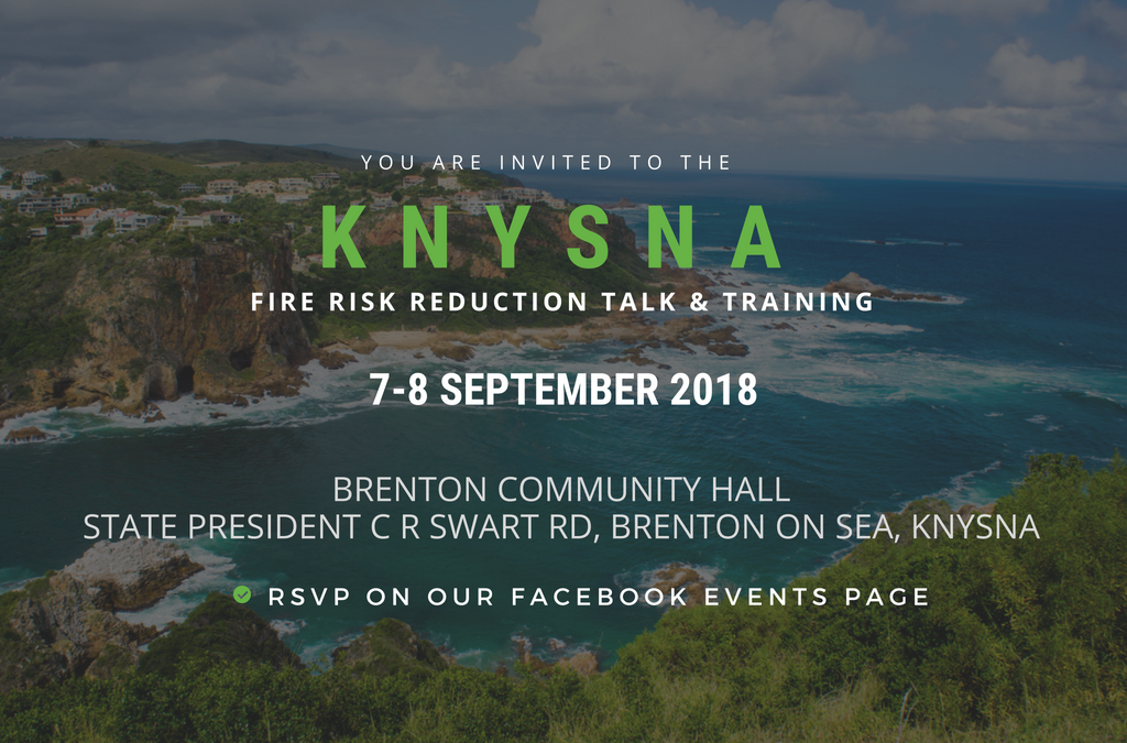 Calling all Knysna homeowners! Free fire risk reduction training for your home.